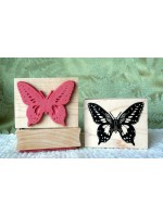 Large Butterfly Rubber Stamp