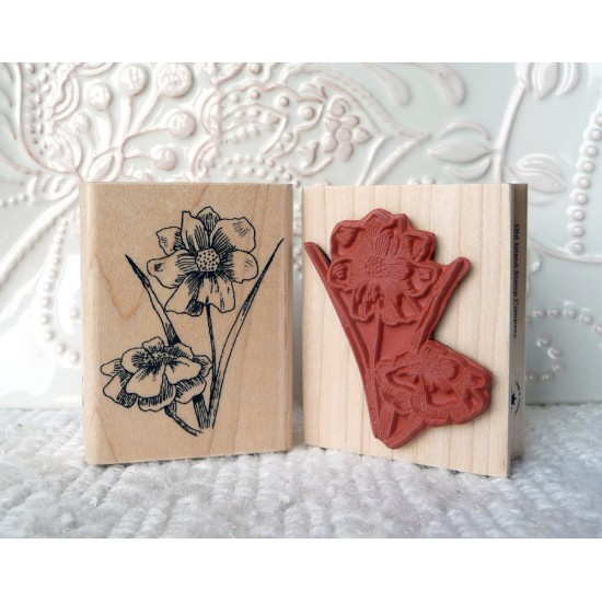 Adonis Flower Rubber Stamp
