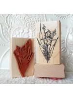 Iris Flower Rubber Stamp