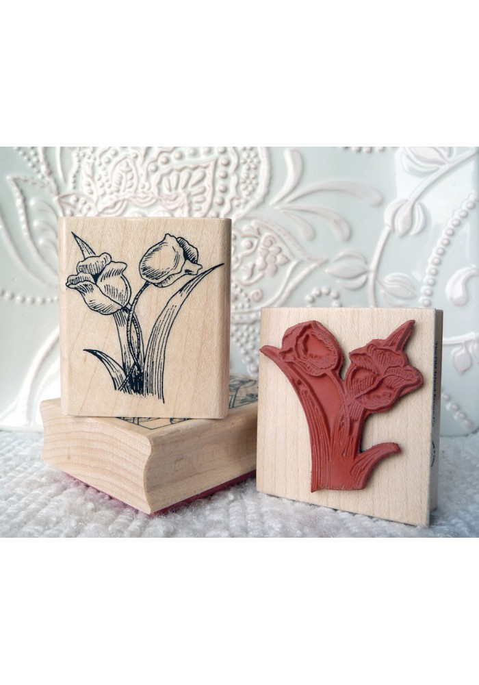 Tulips Rubber Stamp