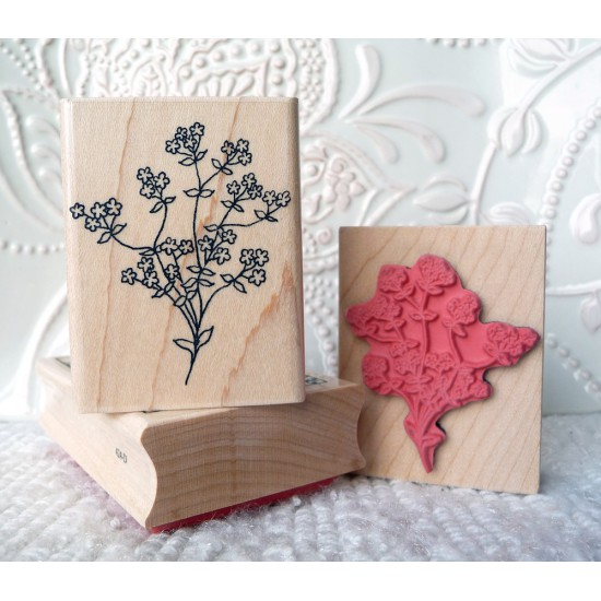 Baby's Breath Flower Rubber Stamp