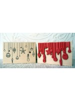 Christmas Ornaments Rubber Stamp