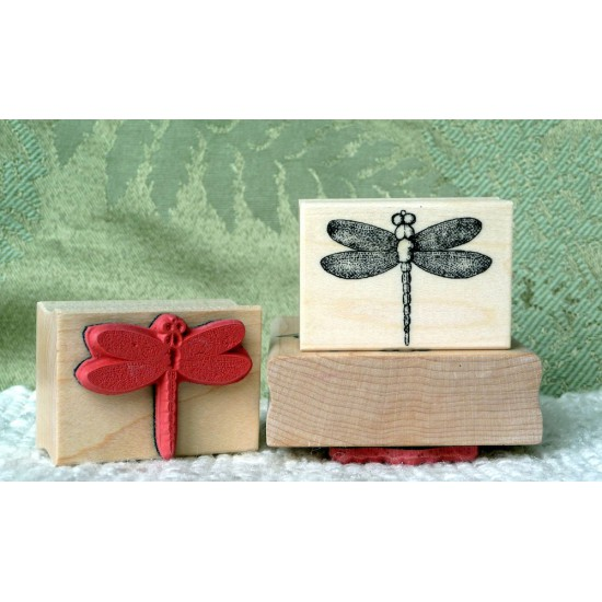 Small Dragonfly Rubber Stamp