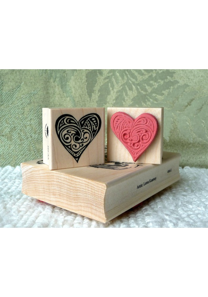 Small Heart Rubber Stamp