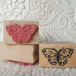 Wispy Butterfly rubber stamp from oldislandstamps