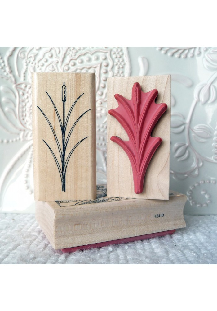 Bullrush Rubber Stamp