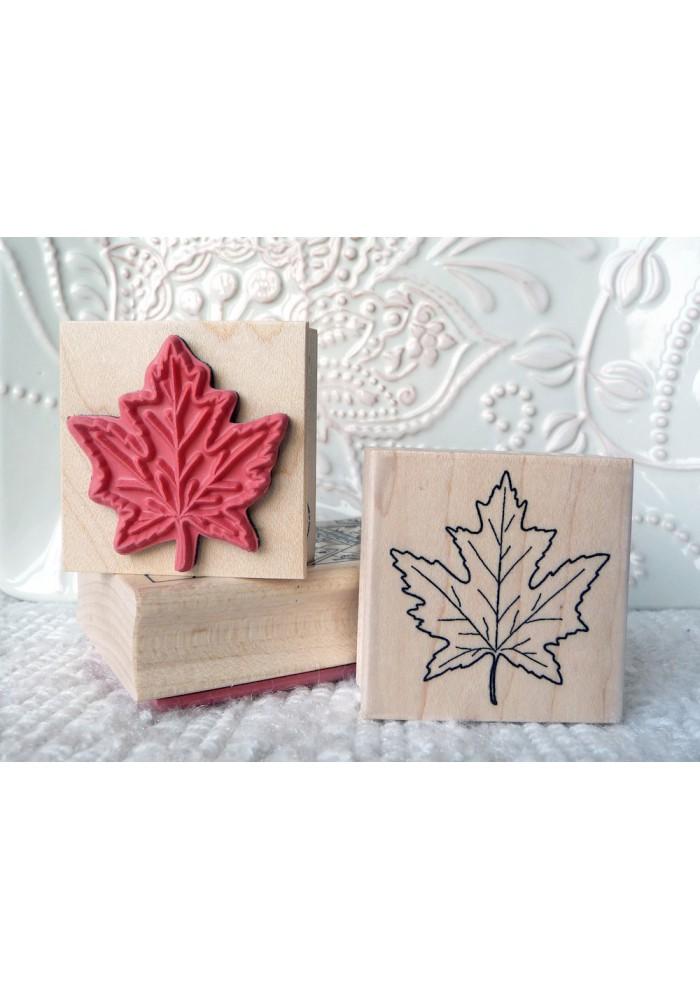 Maple Leaf Rubber Stamp