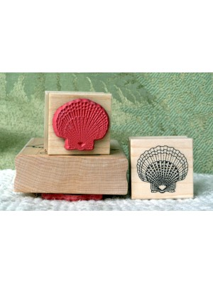 Small Scallop Shell Rubber Stamp