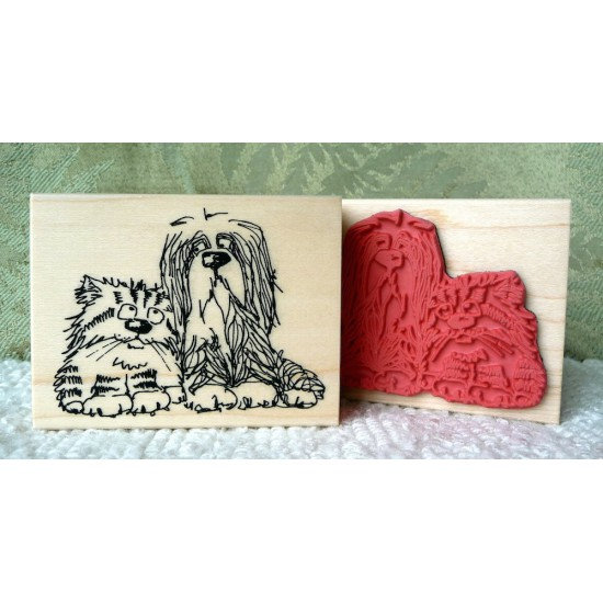 Dubious Dog Rubber Stamp