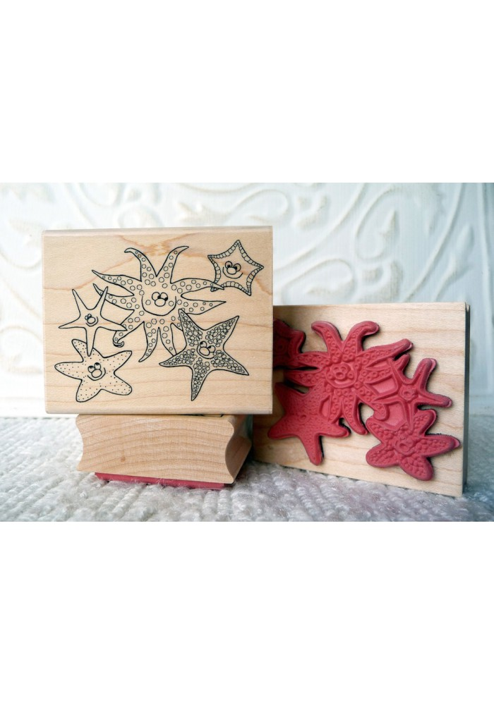 Starfish and Friends Rubber Stamp