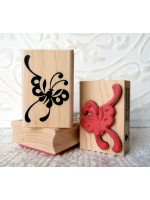 Asian Butterfly Rubber Stamp