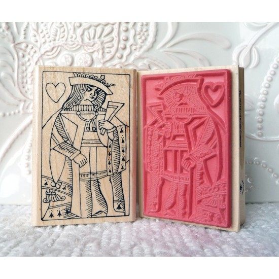 Queen of Hearts Rubber Stamp