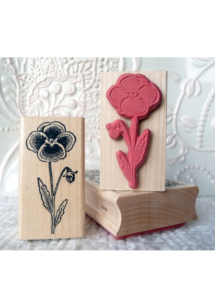 Pansy Flower Rubber Stamp