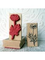 Poppy Flower Rubber Stamp
