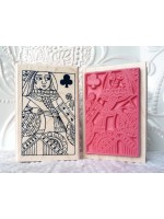 Queen of Clubs Rubber Stamp