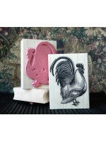 Rooster Rubber Stamp