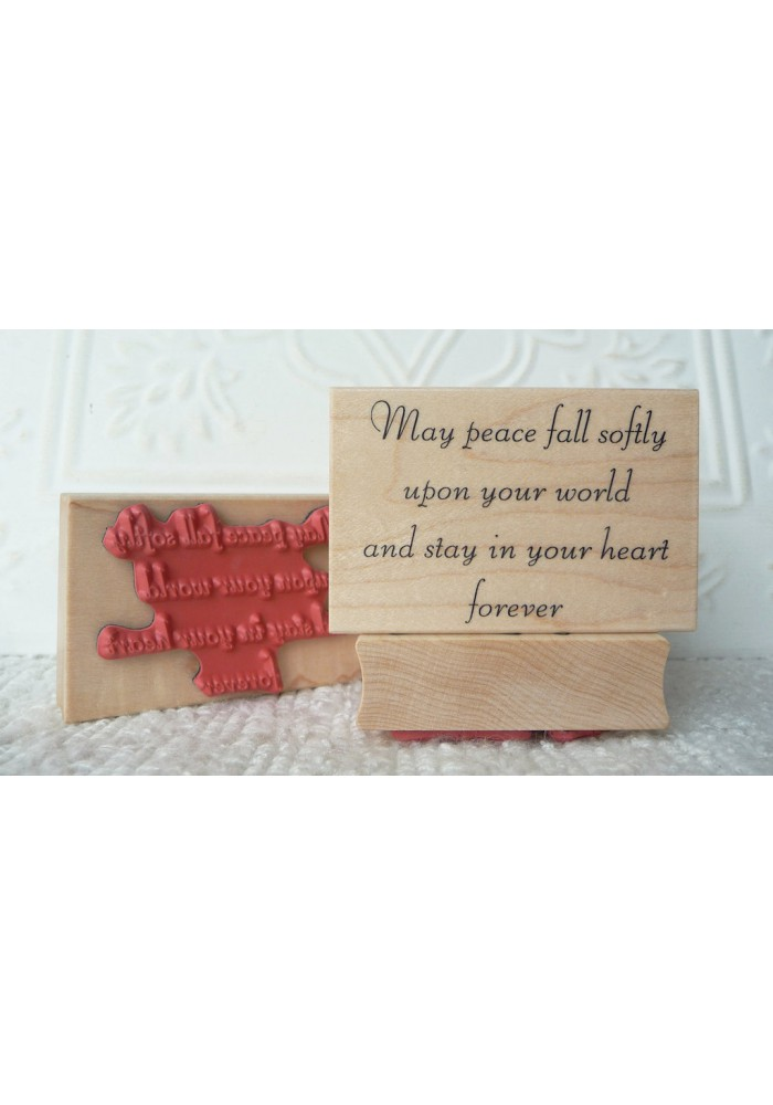 Peace/forever Rubber Stamp