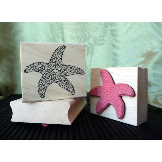 Large Starfish Rubber Stamp