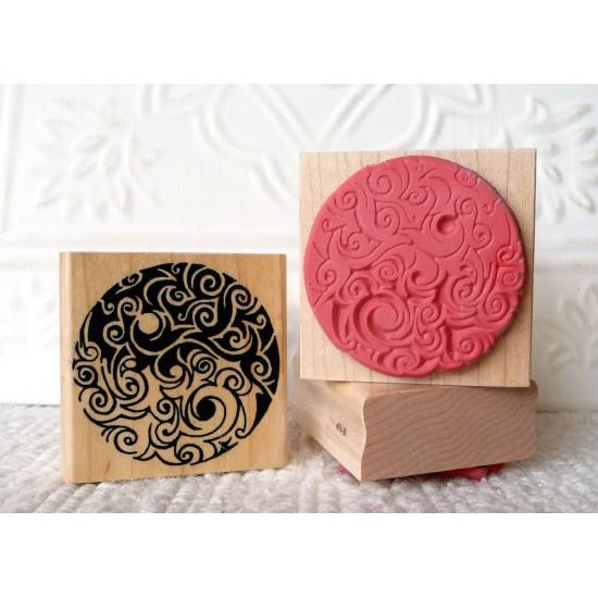 Saltspring Yin Yang Rubber Stamp