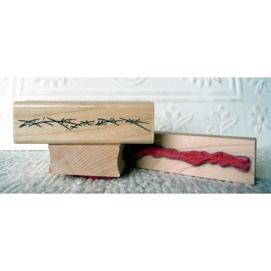 Squiggles: Border Lines Rubber Stamp