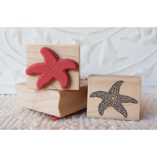 Small Starfish Rubber Stamp