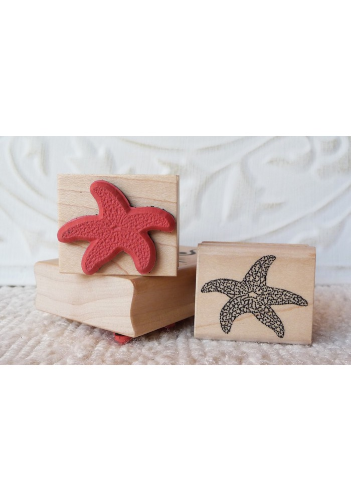Small Starfish Rubber Stamp