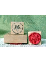 Small Sand Dollar Rubber Stamp