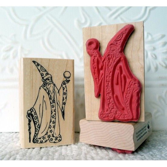 Wizard Rubber Stamp