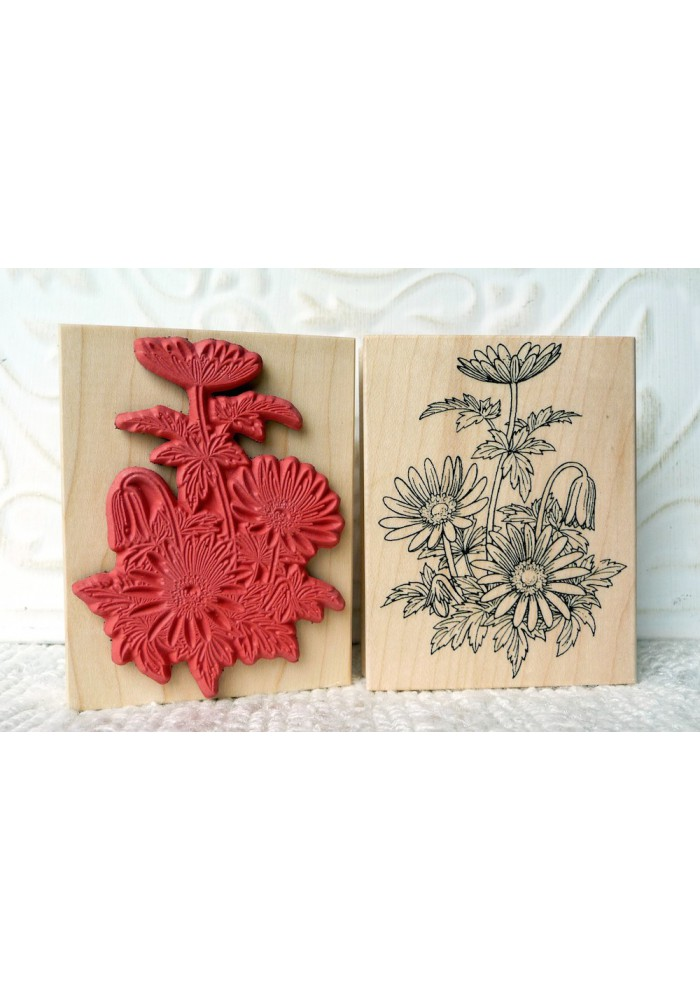 Windflowers Rubber Stamp