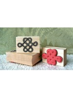 Oriental Love Knot Rubber Stamp