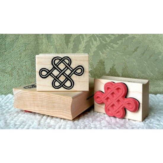 Chinese Love Knot Rubber Stamp
