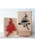 Asian Sunrise Rubber Stamp