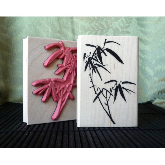 Bamboo Sprig Rubber Stamp