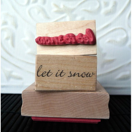 let it snow Rubber Stamp
