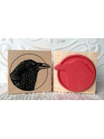 Raven Bird Rubber Stamp