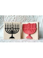 Menorah Rubber Stamp