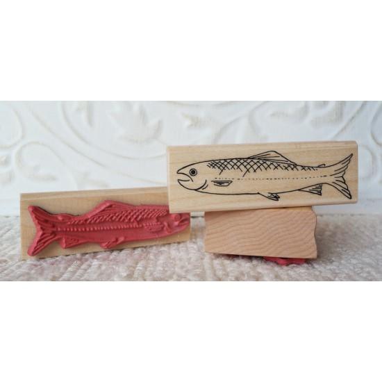 Salmon Rubber Stamp