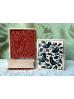 4 Calling Birds Rubber Stamp