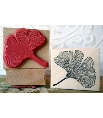 Ginkgo Leaf Rubber Stamp