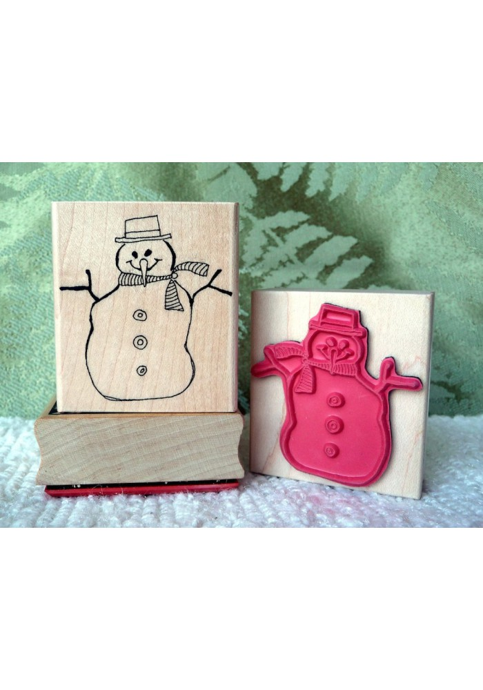 Snow Person Rubber Stamp