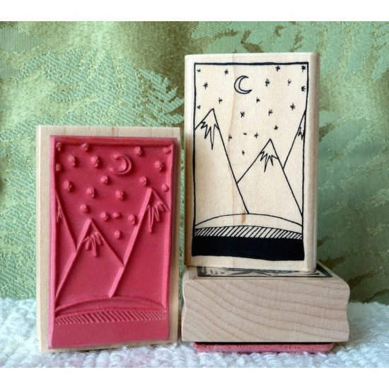 Mountains Rubber Stamp