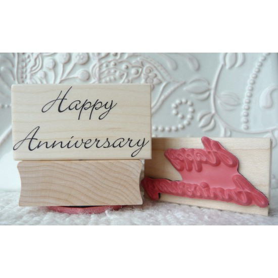 Happy Anniversary Rubber Stamp