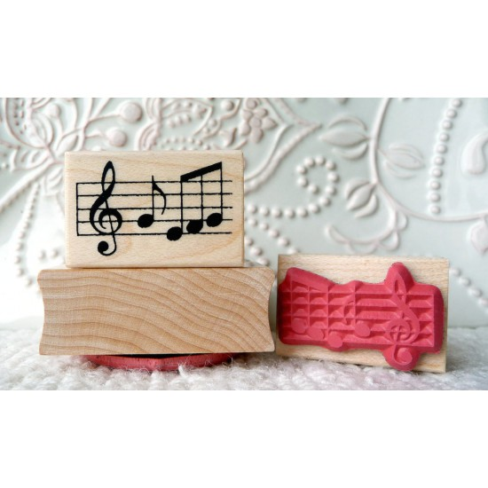 Musical Notes Rubber Stamp