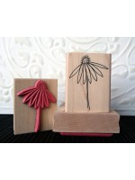 Echinacea Flower Rubber Stamp