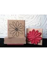 Flower Blossom Rubber Stamp