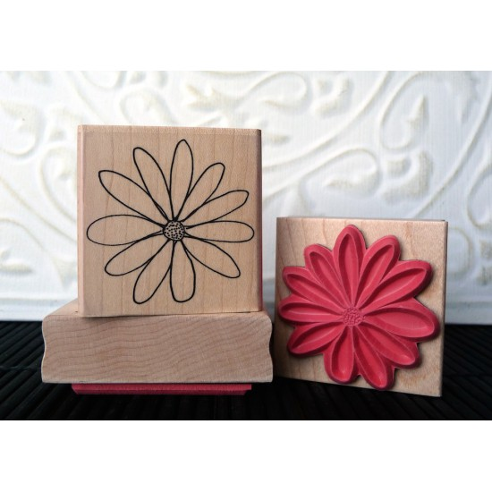 Flower Blossom Rubber Stamp