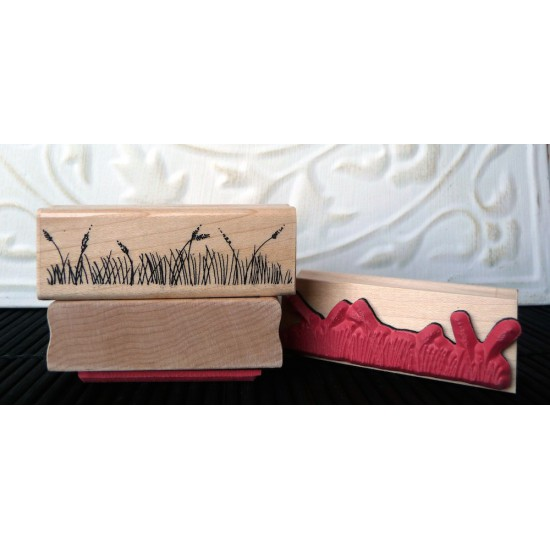 Grass Rubber Stamp