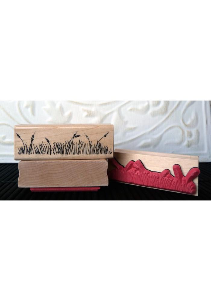 Grass Rubber Stamp