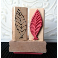 Fishbone Leaf Rubber Stamp
