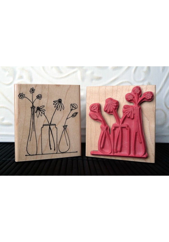 Spring Blooms Rubber Stamp